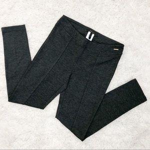BCBGMaxAzria Heather Gray Ponte Slim Stretch Pants